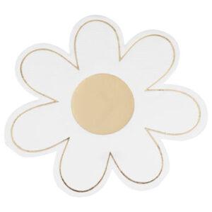 Daisy Crazy – Paper Napkin – Gold Foiled Daisy Napkin
