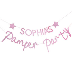 Pamper Party – Pink Glitter Customisable Pamper Party Bunti