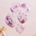 Pamper Party – Pink Glitter Filled Balloons
