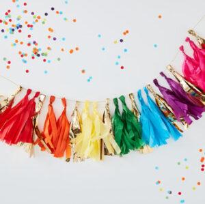 Over The Rainbow – Multi Coloured Tassel Garland