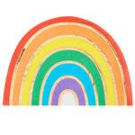 Over The Rainbow – Rainbow Shaped Gold Foiled Rainbow Napkin