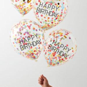Over The Rainbow – Happy Birthday Rainbow Confetti Filled Ba