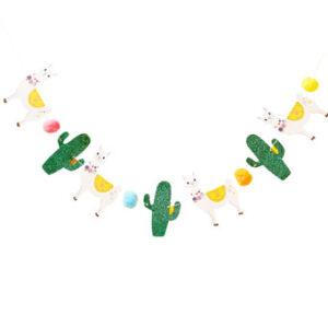 Viva La Fiesta – Llama, Glitter Cactus & Pom Pom Bunting