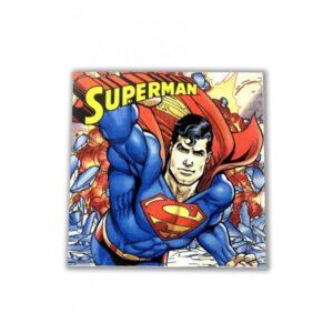 SUPERMAN TWO PLY PAPR NAPKIN 33X33CM 20CT