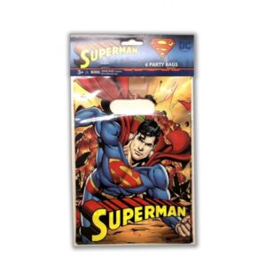 SUPERMAN PARTY BAGS 6CT