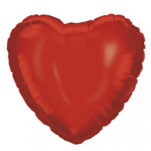 18 INCH AIR-HELIUM FOIL RED HEART 1CTP