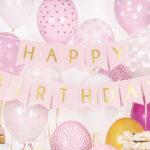 Light Pink Happy Birthday Banner