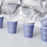 Cups Happy B'day!, navy blue, 220ml