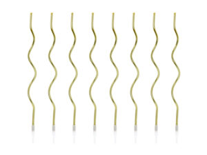 Birthday candles curl, gold, 14 cm