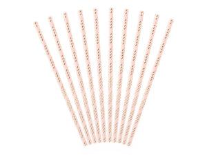 Paper straws, light pink, 19.5cm