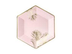 Light Pink Plates Leaves 23cm
