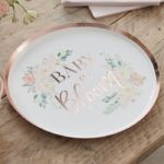 Rose Gold Baby In Bloom Plates